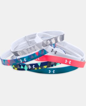New Arrival Girls' UA Graphic Headbands - 6 Pack   2 Colors $14.99