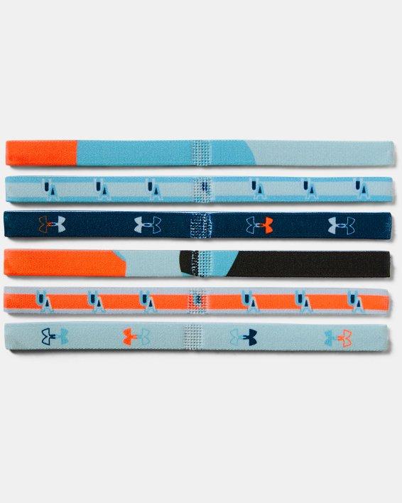 Girls' UA Graphic Headbands - 6 Pack, Blue, pdpMainDesktop image number 1
