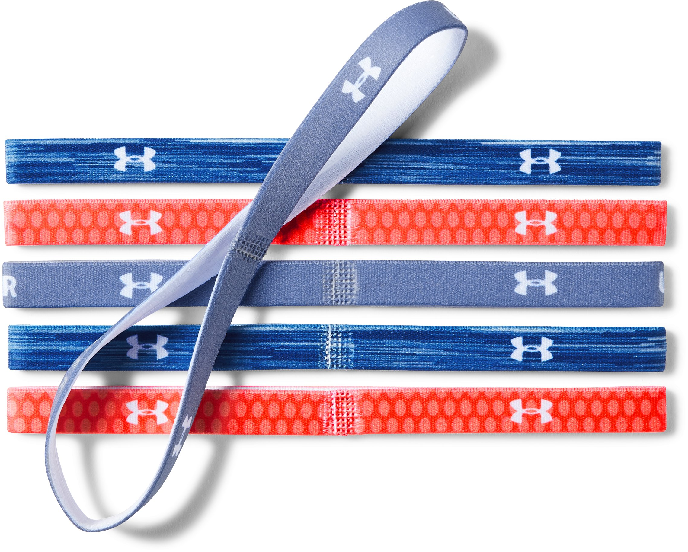 Girls' UA Graphic Headbands - 6 Pack, FORMATION BLUE