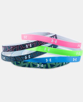 New Arrival Girls' UA Graphic Headbands - 6 Pack   1 Color $14.99