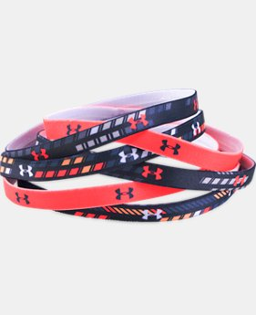 Girls' UA Graphic Headbands - 6 Pack  1 Color $17.99
