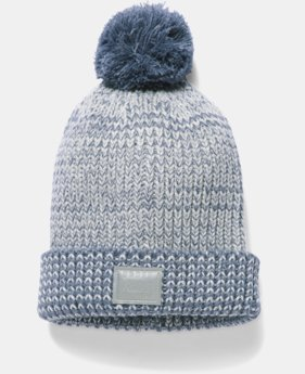 New Arrival  Girls' UA Shimmer Pom Beanie  1 Color $29.99
