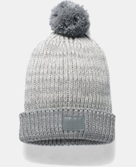 Girls' UA Shimmer Pom Beanie  1  Color Available $14.99