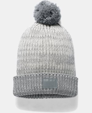 New Arrival  Girls' UA Shimmer Pom Beanie LIMITED TIME: FREE SHIPPING 1 Color $29.99