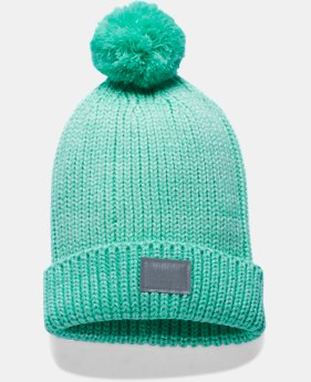 New Arrival Girls' UA Shimmer Pom Beanie LIMITED TIME: FREE U.S. SHIPPING  $24.99
