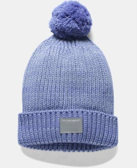 PRO PICK Girls' UA Shimmer Pom Beanie LIMITED TIME OFFER 1 Color $17.49