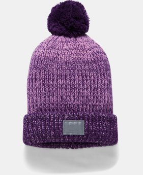PRO PICK Girls' UA Shimmer Pom Beanie  2 Colors $24.99