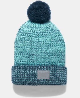 Girls' UA Shimmer Pom Beanie LIMITED TIME OFFER 1 Color $20.99