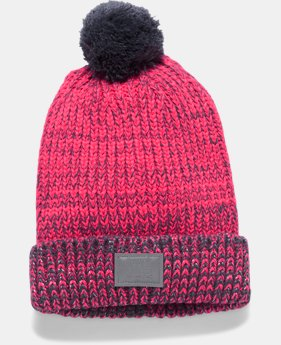 PRO PICK Girls' UA Shimmer Pom Beanie LIMITED TIME OFFER 4 Colors $17.49
