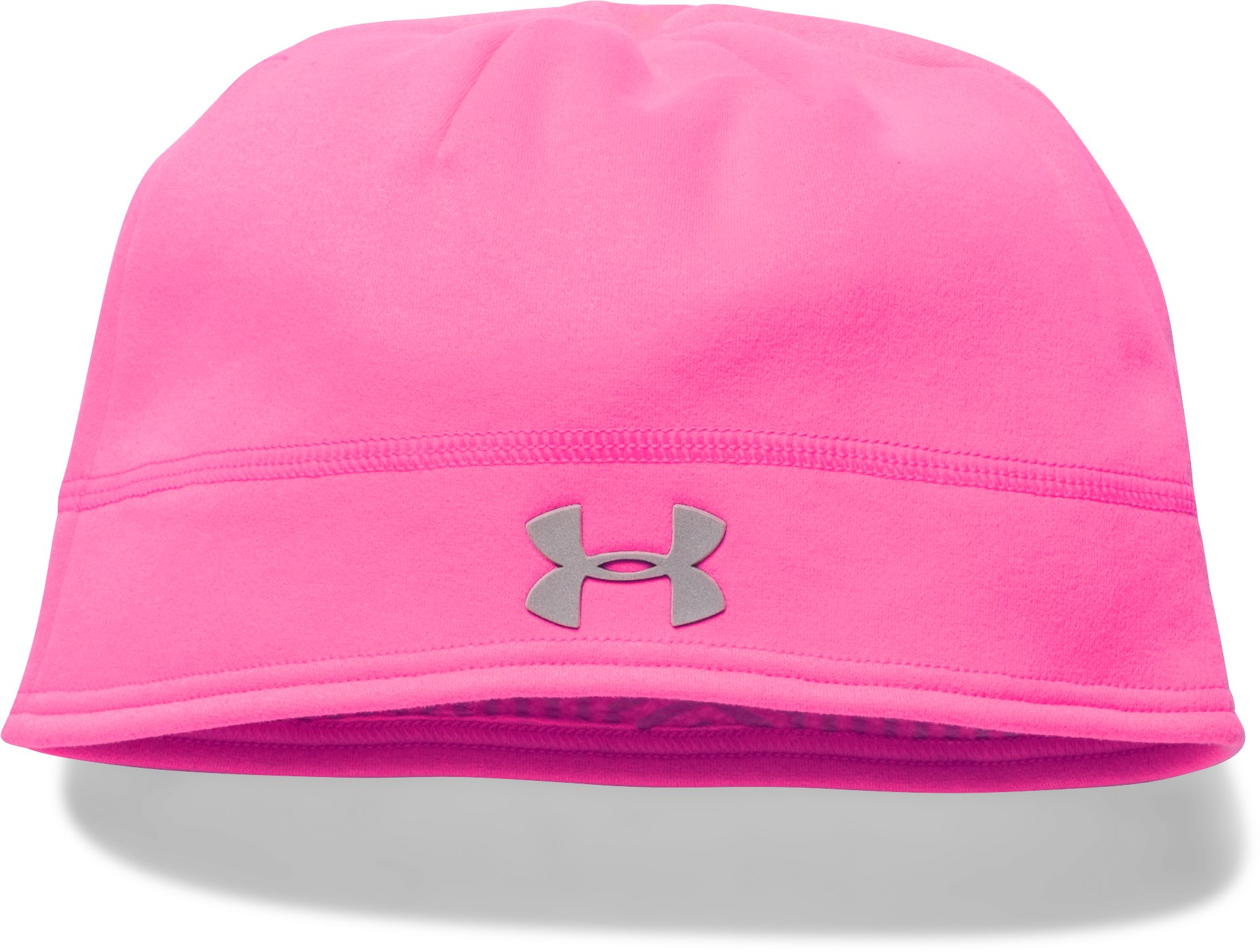 Girls' UA Storm ColdGear® Infrared Beanie, PINK PUNK