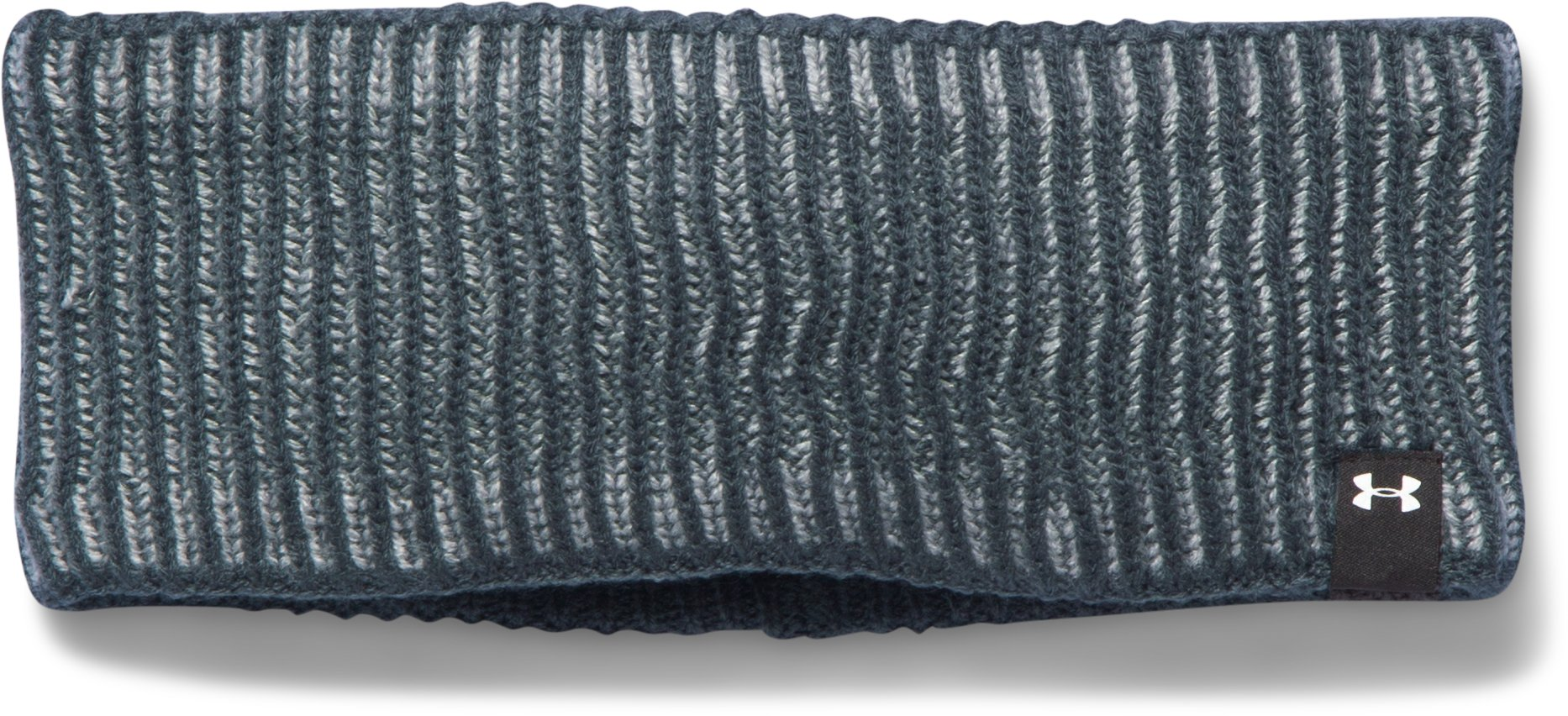 Women's UA Run Reflective Knit Headband, STEALTH GRAY