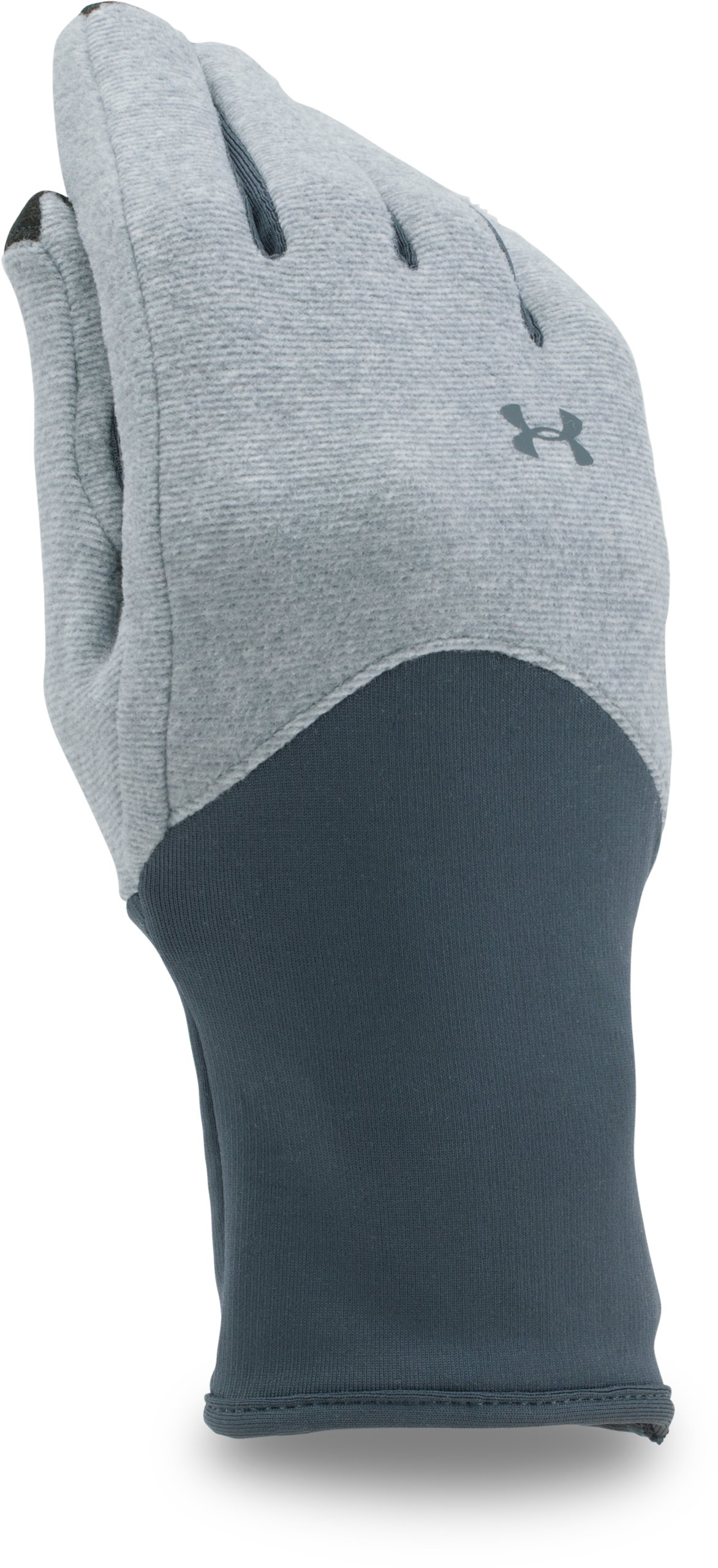 Women's UA ColdGear® Infrared Fleece Gloves, Steel, undefined