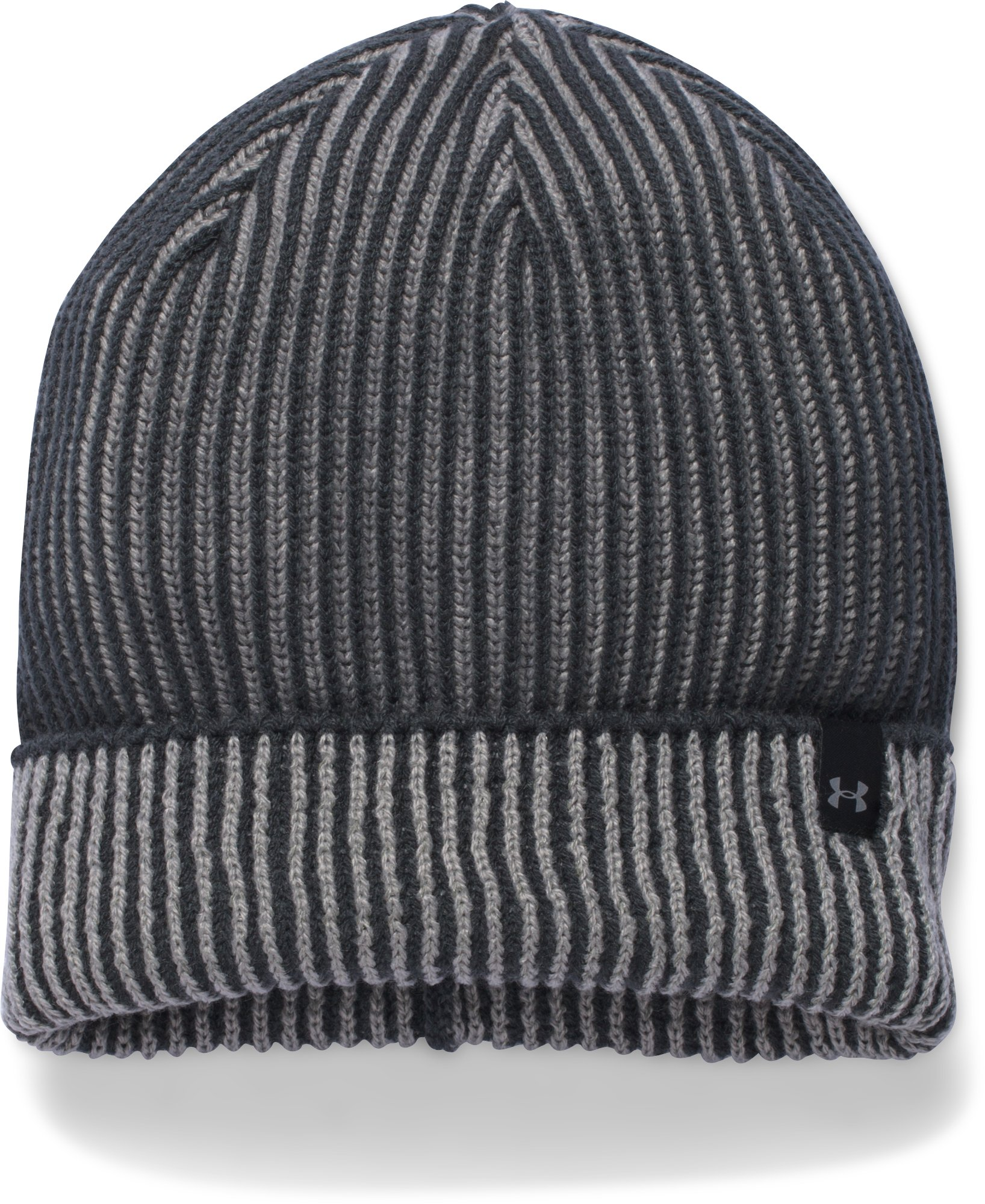 Women's UA Reflective Knit Beanie, STEALTH GRAY