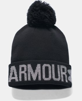 New Arrival  Women's UA Graphic Pom Beanie LIMITED TIME: FREE SHIPPING 1 Color $22.99