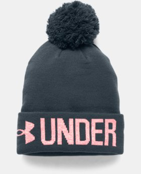 Women's UA Graphic Pom Beanie LIMITED TIME: FREE U.S. SHIPPING 3 Colors $14.24 to $18.99
