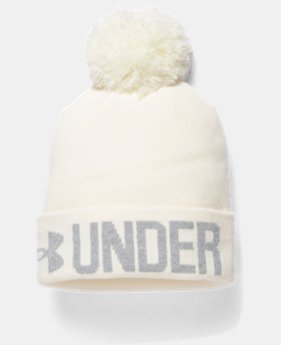 Women's UA Graphic Pom Beanie  1 Color $22.99