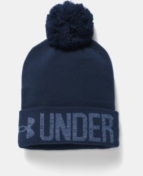 Women's UA Graphic Pom Beanie  3 Colors $29.99