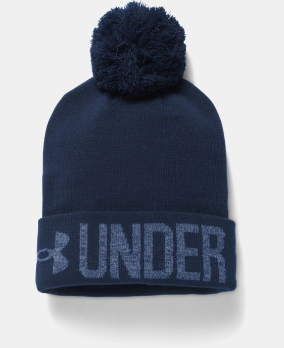 New Arrival  Women's UA Graphic Pom Beanie  2 Colors $22.99