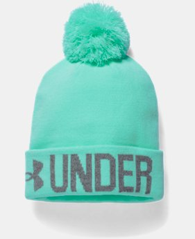 Women's UA Graphic Pom Beanie  1 Color $14.99 to $18.99