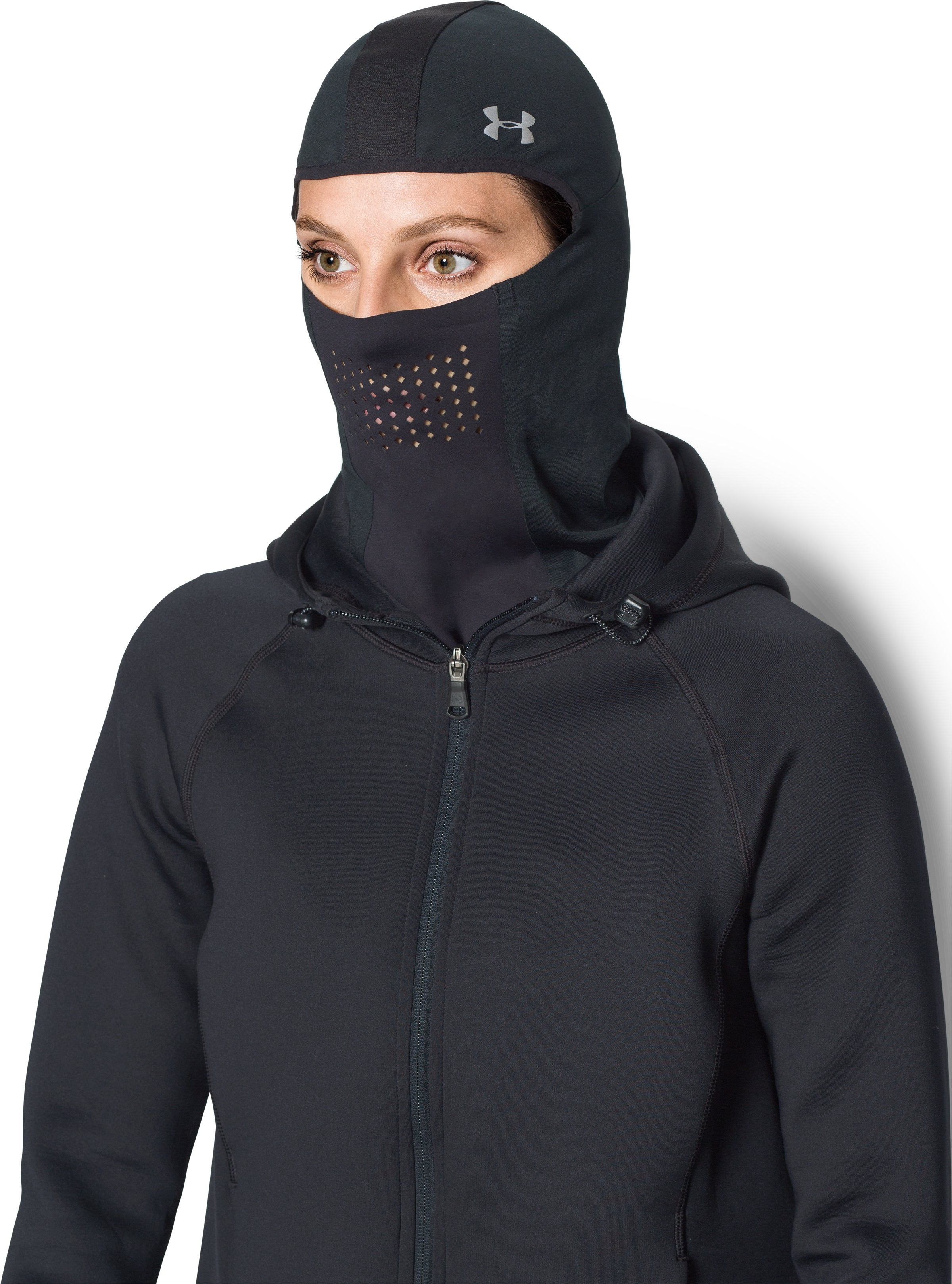 Women's UA No Breaks ColdGear® Infrared Balaclava, Black , undefined