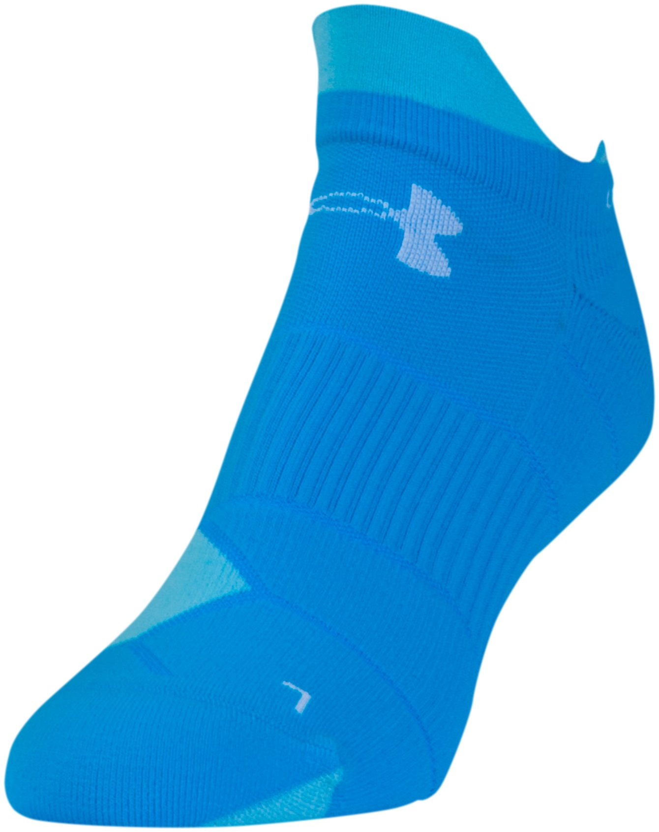 Women's UA Run No Show Tab Socks, Royal