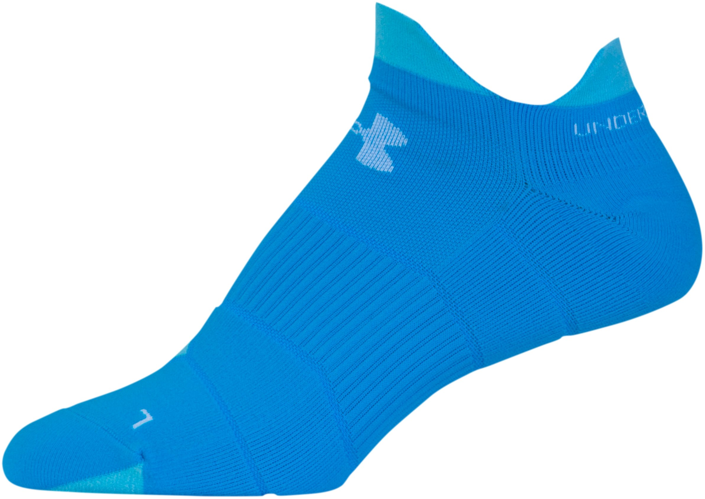 Women's UA Run No Show Tab Socks, Royal, undefined