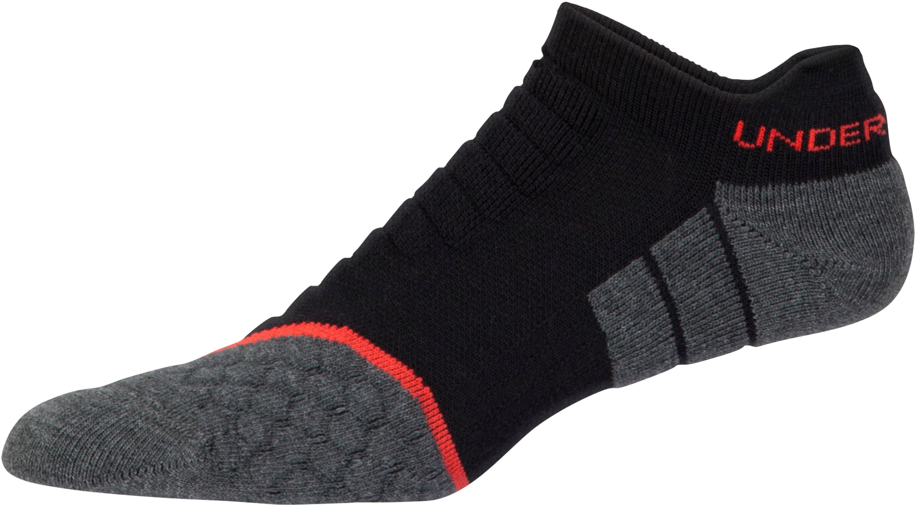 Men's UA All Season Wool No Show Tab Socks, Black