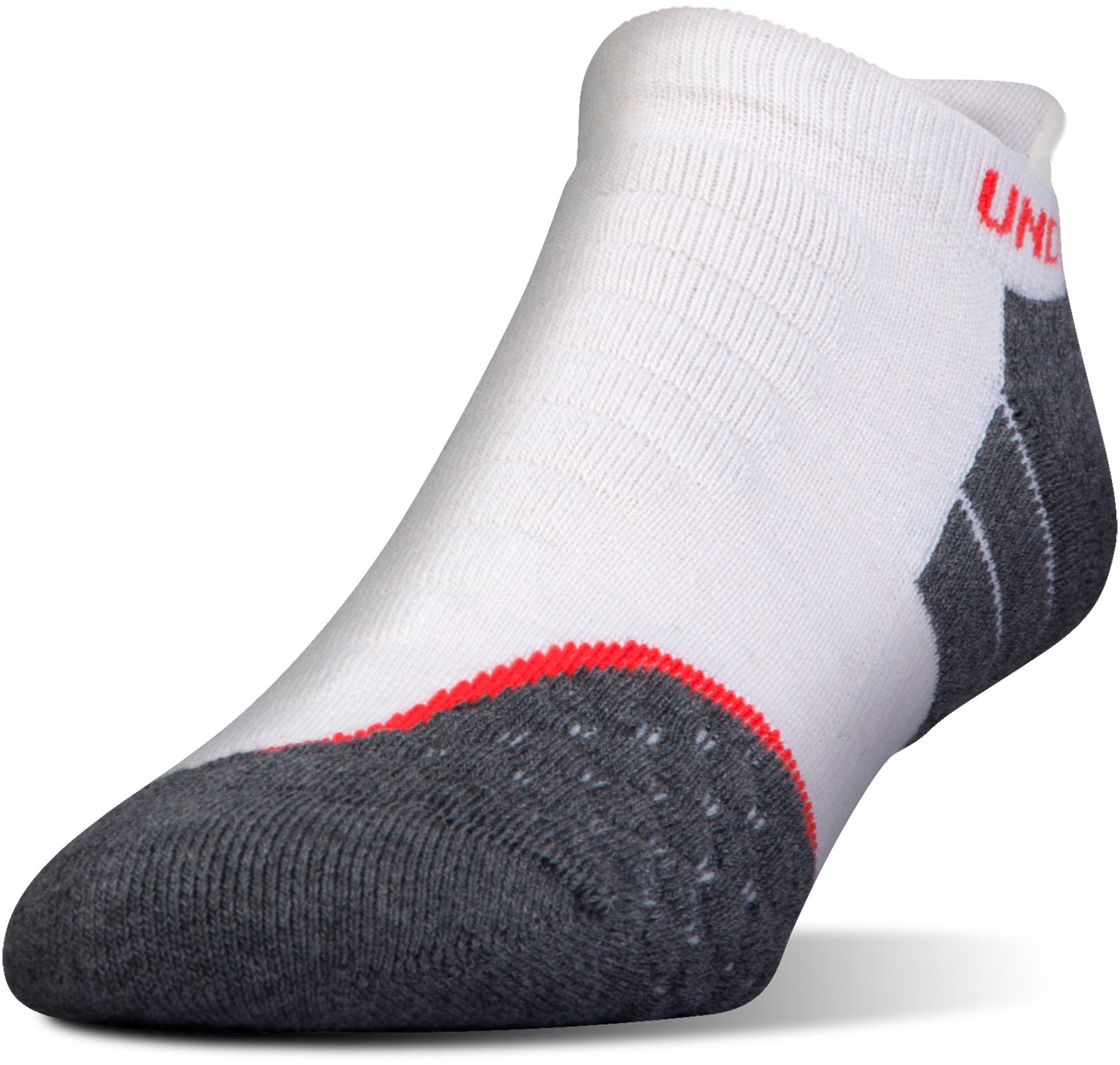 Men's UA All Season Wool No Show Tab Socks, White, undefined
