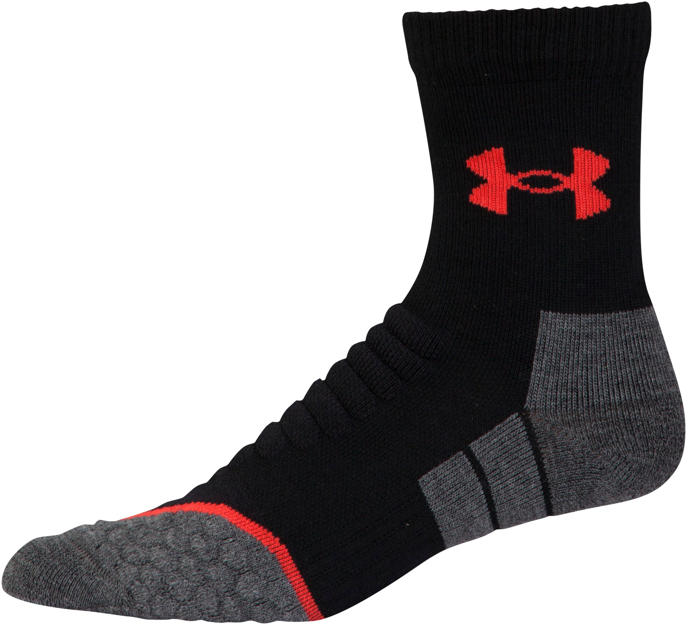 Men's UA All Season Wool Mid Crew Socks, Black , undefined