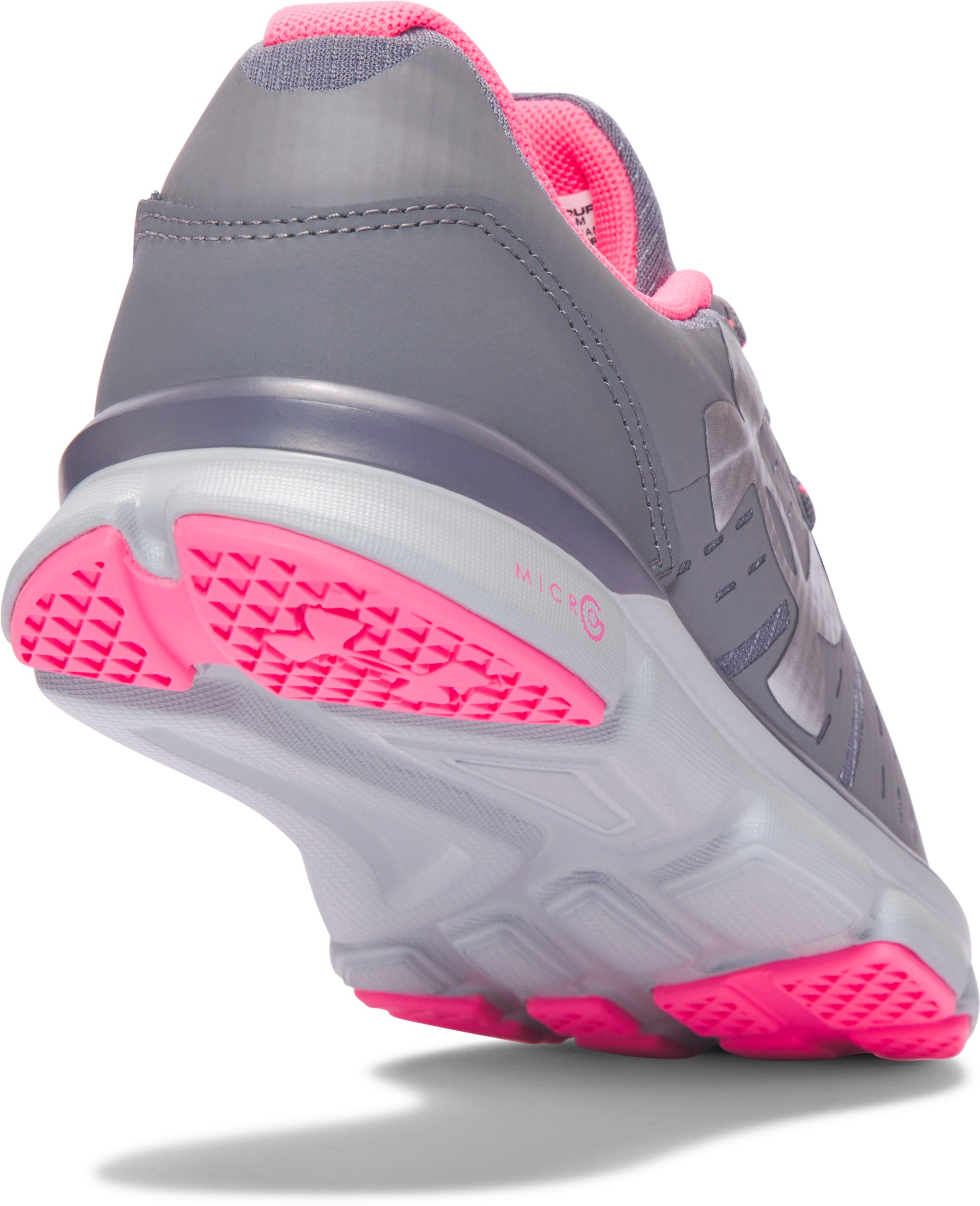 Girls' Grade School UA Speed Swift Grit Running Shoes, Graphite