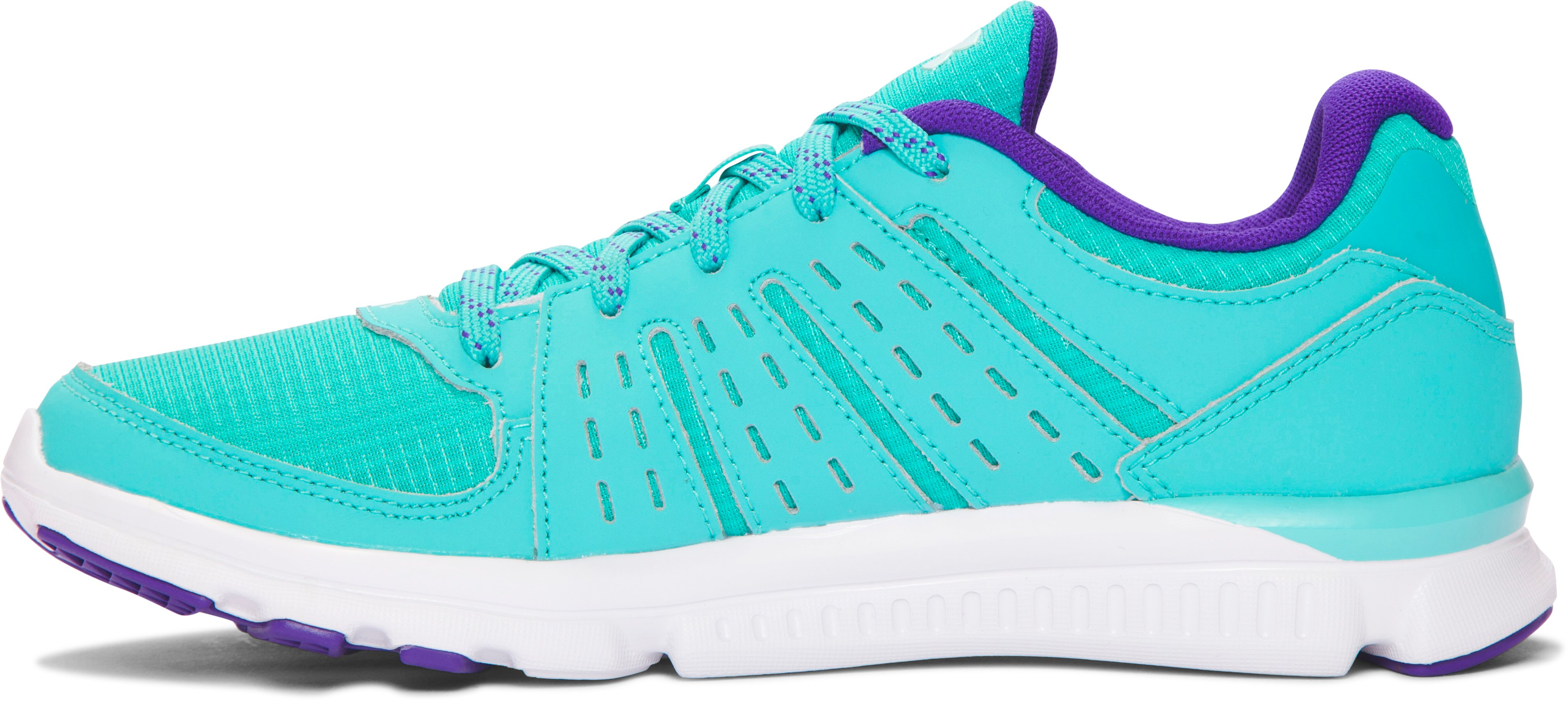 Girls' Grade School UA Speed Swift Grit Running Shoes , NEPTUNE