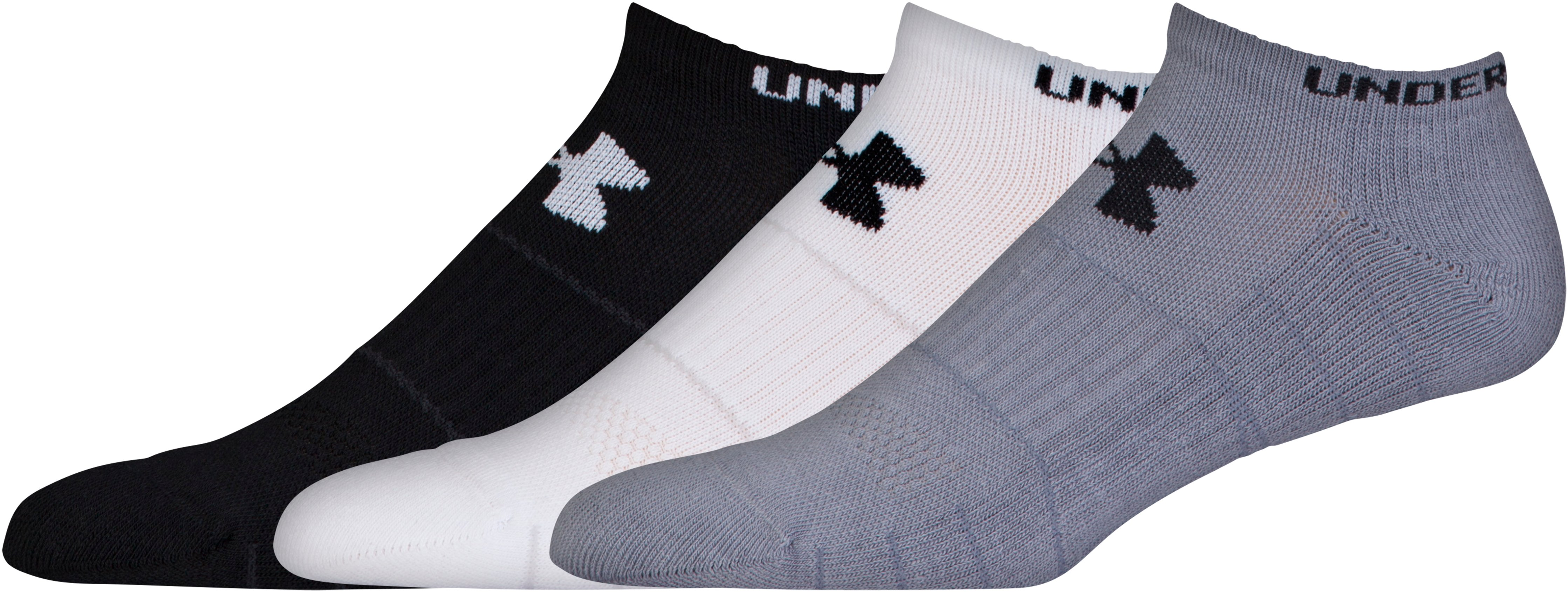 Men's UA Performance No Show Socks, Steel