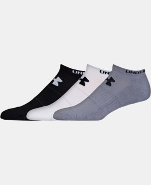 3-Pack Men's UA Performance No Show Socks LIMITED TIME: FREE U.S. SHIPPING 1 Color $17.99