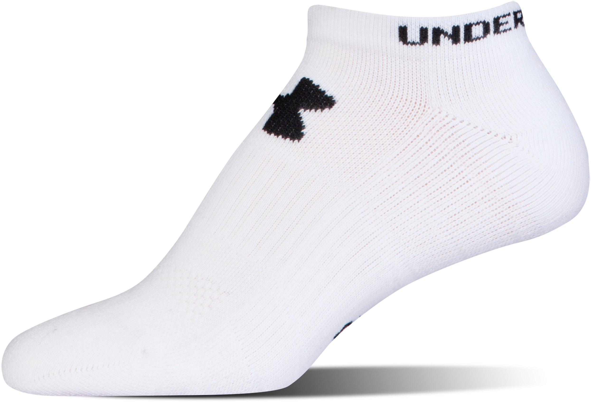 Men's UA Performance No Show Socks – 3-Pack, White, undefined