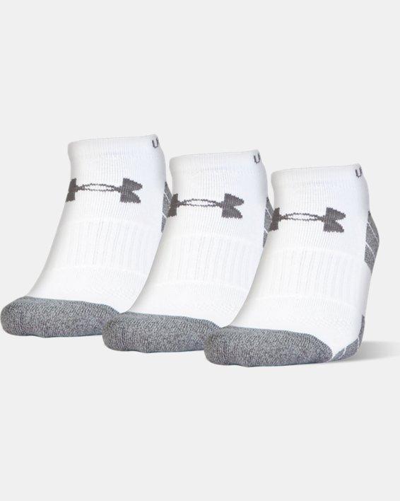 Men's UA Elevated Performance No Show Socks - 3-Pack, White, pdpMainDesktop image number 0