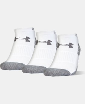 Men's UA Performance No Show Socks – 3-Pack  3 Colors $18