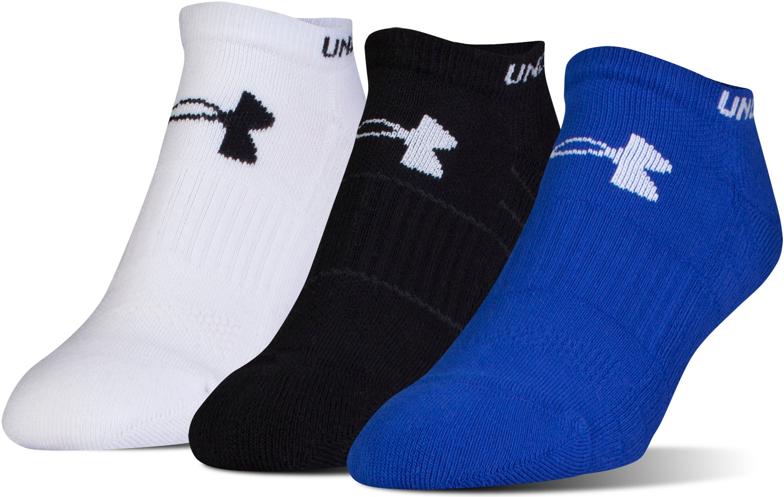Men's UA Performance No Show Socks – 3-Pack, Royal, undefined