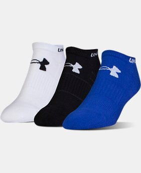 Men's UA Performance No Show Socks – 3-Pack  5 Colors $18
