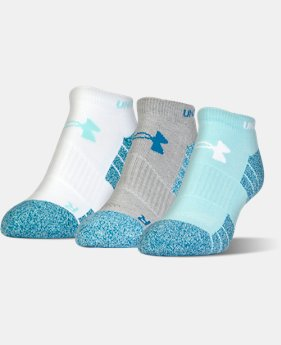 Men's UA Elevated Performance No Show Socks – 3-Pack  3 Colors $18