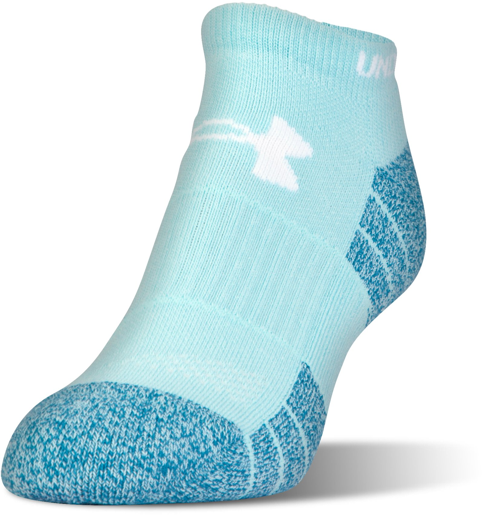 Men's UA Elevated Performance No Show Socks – 3-Pack, BLUE INFINITY, undefined