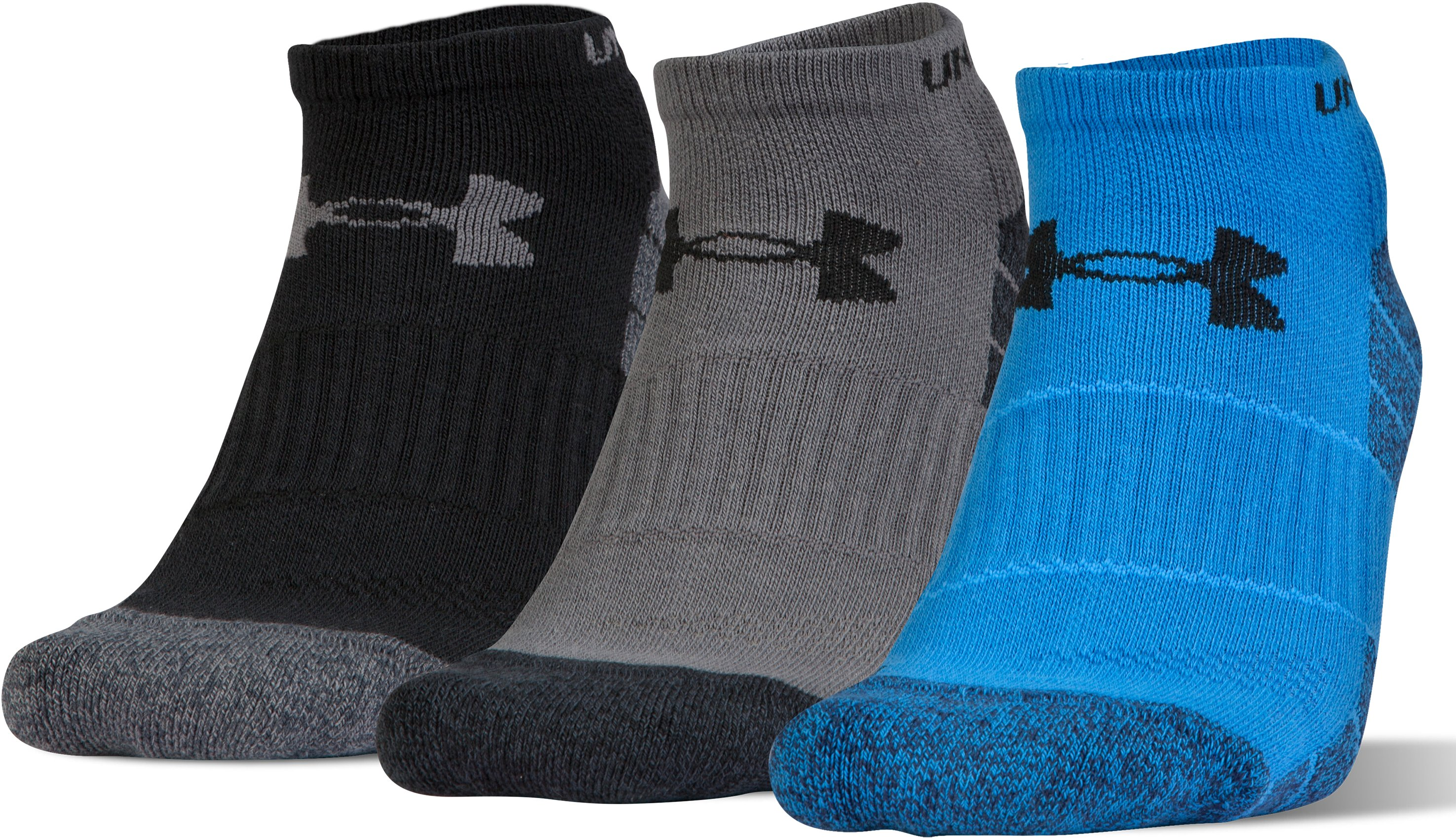 Men's UA Elevated Performance No Show Socks – 3-Pack, MAKO BLUE