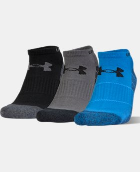 UA Elevated Performance No Show Socks – 3-Pack  1  Color $18