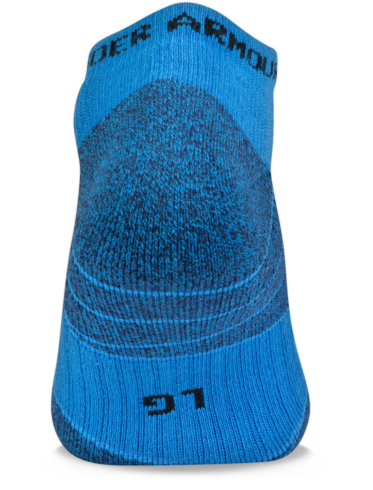 UA Elevated Performance No Show Socks – 3-Pack, MAKO BLUE,