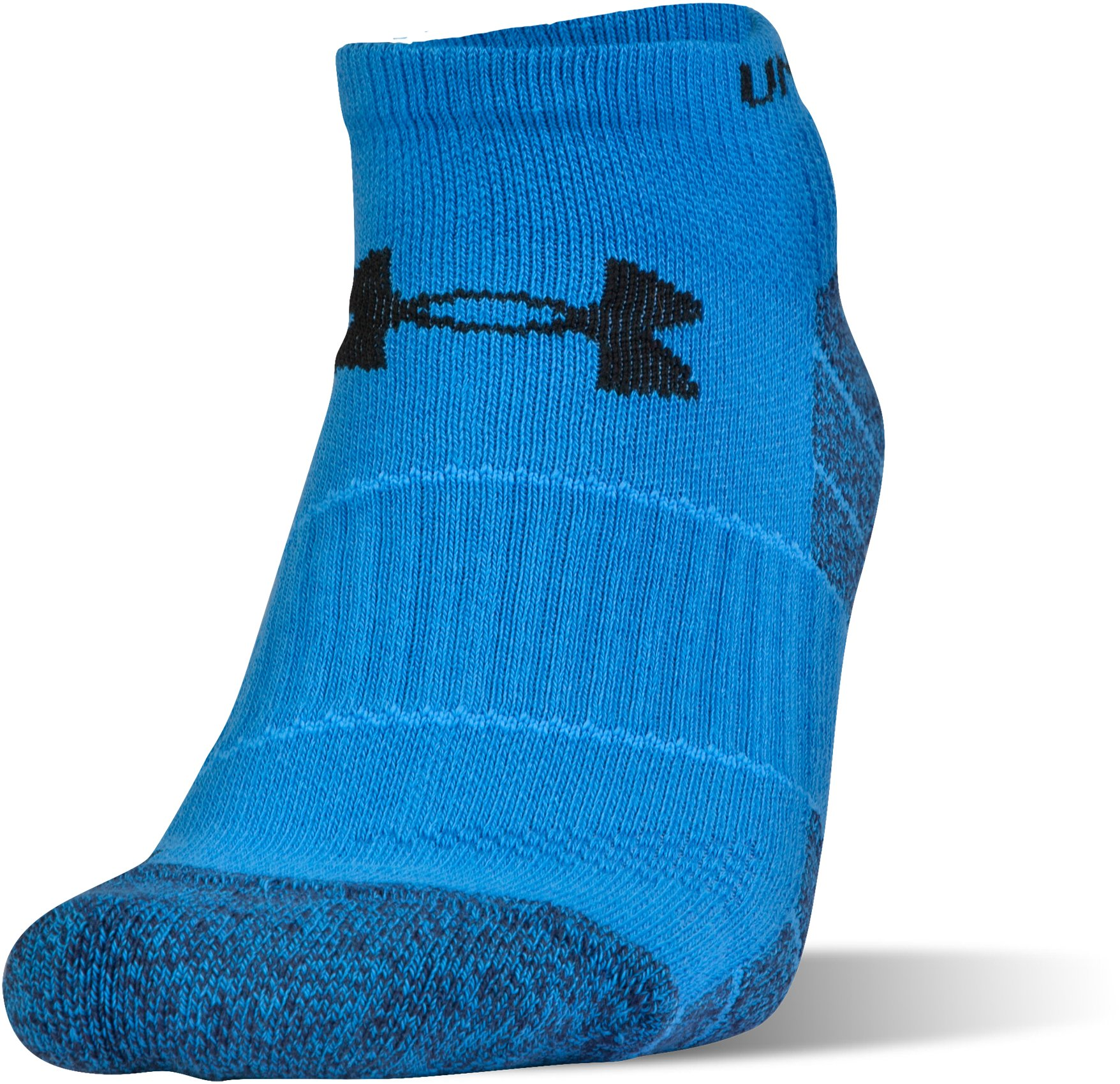 Men's UA Elevated Performance No Show Socks – 3-Pack, MAKO BLUE, undefined