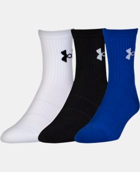 6-Pack Men's UA Performance Mid Crew Socks 3-Pack  1 Color $17.99