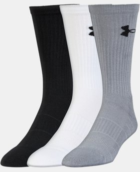 3-Pack Men's UA Performance Crew Socks 3-Pack  1 Color $19.99