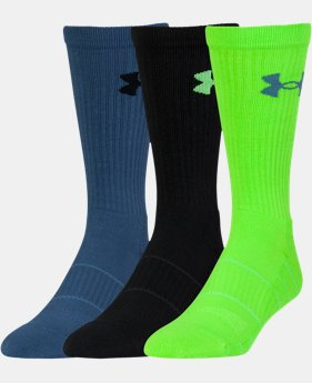 3-Pack Men's UA Performance Crew Socks 3-Pack  2 Colors $19.99