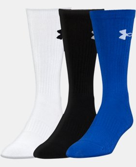 Best Seller UA Performance Crew Socks – 3-Pack  1  Color $20