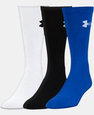 3-Pack Men's UA Performance Crew Socks LIMITED TIME: FREE U.S. SHIPPING 1 Color $19.99