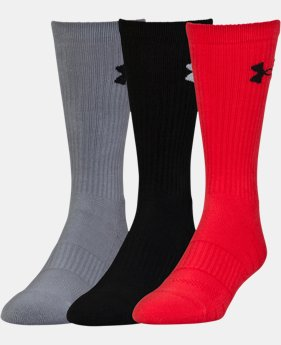 Best Seller UA Performance Crew Socks – 3-Pack  1  Color Available $20